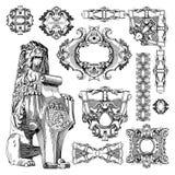 Орнаментальный элемент дизайна Львова исторический Стоковое Изображение