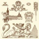 Орнаментальный элемент дизайна Львова исторический Стоковое Изображение RF