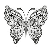 Орнаментированная абстрактная бабочка Стоковое Изображение