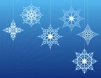 орнаментирует снежинку Стоковая Фотография RF