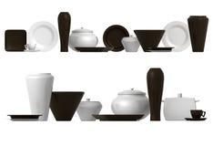 орнаментирует tableware 2 Стоковые Изображения