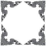 Орнаментируйте рамку элементов, винтажные серебряные флористические дизайны стоковые изображения rf