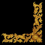Орнаментируйте элементы, дизайны винтажной рамки золота флористические Стоковое Изображение RF