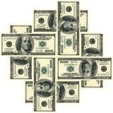 100 орнаментов доллара Стоковые Изображения
