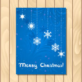 орнаментов приветствию рождества карточки bokeh предпосылки вектор вала пушистых естественных красный Стоковая Фотография RF