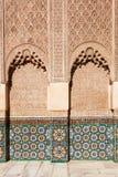 Орнаменты в Бен Youssef Medersa в Marrakesh Стоковое фото RF
