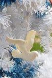 Орнаменты года сбора винограда символа голубя мира белого рождества Стоковые Фото