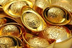 орнаменты золотого ингота Стоковые Изображения RF