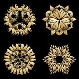 Орнаменты золота вектора Стоковое Изображение