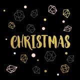 Орнаменты и украшения золота на праздник рождества иллюстрация вектора