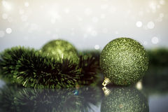 Орнаменты и шарики рождественской елки Стоковая Фотография RF