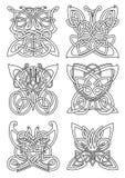 Орнаменты насекомого бабочки племенные кельтские Стоковая Фотография RF