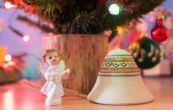 Орнаменты на рождественской елке Стоковые Изображения