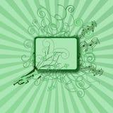 орнаменты нот зеленого цвета рамки цветков Стоковые Изображения