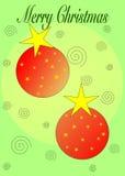 орнаменты рождества веселые Стоковое Изображение