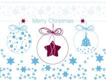 Орнаменты рождества в шарике Стоковое Изображение RF