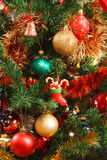 Орнаменты рождества на вале Стоковые Фото