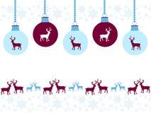 Орнаменты рождества с праздничным дизайном Стоковое Изображение RF