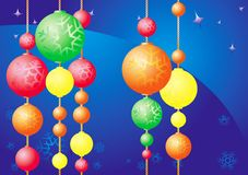 орнаменты рождества Стоковые Изображения RF