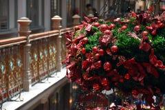Орнаменты рождества на рождественской елке Стоковое фото RF