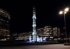 Орнаменты рождества на torg Sergels Стоковое Изображение