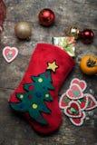 орнаменты рождества праздничные устанавливая таблицу Стоковая Фотография RF