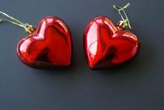Орнаменты рождества сердца Стоковое Фото