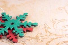 Орнаменты рождества снежинки Стоковое фото RF