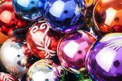 Орнаменты стеклянного шарика безделушки рождества Шарики безделушек рождества винтажные стеклянные Стоковые Изображения