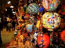Орнаменты сфер в базаре Стамбула Стоковые Изображения RF