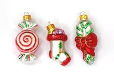 орнаменты тросточки конфеты миниатюрные запаша сахар Стоковая Фотография