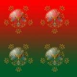 орнаменты 1 рождества Стоковые Изображения