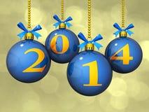 Орнаменты Bokeh 2014 Новый Год Стоковые Фотографии RF