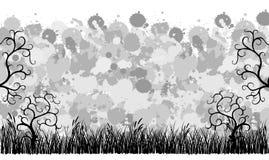 орнаменты grunge травы знамени Стоковое Фото