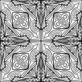 Орнамент абстрактного стиля Zentangle кельтского креста черно-белый бесплатная иллюстрация
