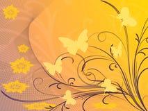 орнамент бабочек Иллюстрация штока