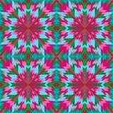Орнамент безшовной геометрической картины симметричный для плиток, ковры, покрывала иллюстрация вектора