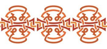 орнамент безшовный соплеменно элемент конструкции ветви декоративный Стоковые Фотографии RF