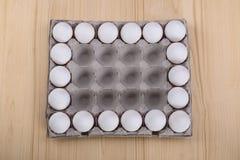 Орнамент белых яичек цыпленка Стоковые Фотографии RF