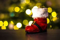 Орнамент ботинка Санты рождества Стоковое Изображение RF