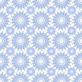 Орнамент вектора безшовный голубой Стоковое Фото
