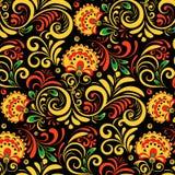 Орнамент вектора русский этнический Картина Khokhloma безшовная в национальном стиле Стоковое Фото