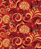 Орнамент вектора русский этнический Картина Khokhloma безшовная в национальном стиле Стоковая Фотография RF
