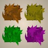 Орнамент вектора стилизованный в форме листьев, Стоковые Фото