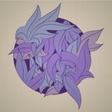 Орнамент вектора стилизованный в форме листьев, Стоковая Фотография RF