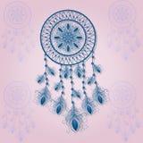 Орнамент вектора флористический для декоративной плиты Мечтайте улавливатель Стоковая Фотография RF
