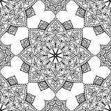 Орнамент вектора черный безшовный Стоковое Изображение