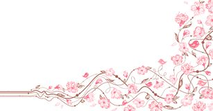 Орнамент весны флористический Стоковая Фотография RF