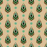Орнамент восточного мотива флористический Стоковые Фото