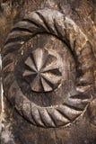 Орнамент высекаенный годом сбора винограда деревянный традиционный Стоковое Изображение